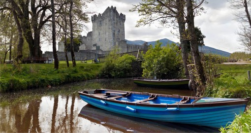 Sitting on the shore of Lough Leane, Ross Castle was built in the 15th century