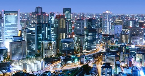 The dense skyline of Umeda District
