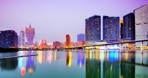 The Macau skyline is a great photo opportunity while on your Macau vacation.