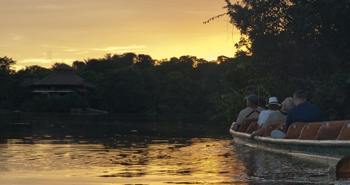 Experience Sunsets in the Amazon on your trip to Ecuador