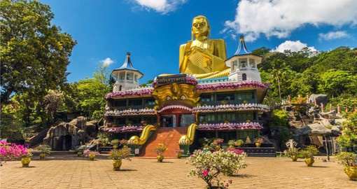 Stop at the Golden Temple in Dambulla on your Sri Lanka vacation