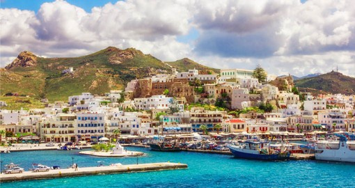 Visit the magnificent ports on the island of Naxos and get a sense of the Mediterranean culture on your Greece Vacation