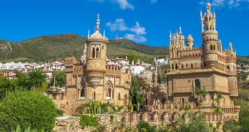 Explore fairy tale Castillo de Colomares  on your Spain holiday