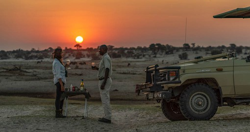 "Indulge in the safari tradition of ""Sundowners"" at Leroo La Tau"