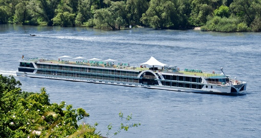 The MS Amadeus Princess, a European cruise ship on the Rhine in Germany.