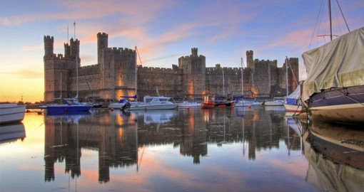 Caernarvon is one of the most impressive castles in Wales and is the site of the investiture of the Prince of Wales
