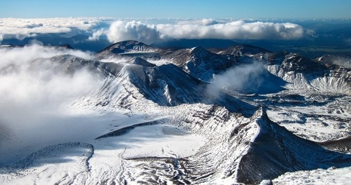Hike in Tongariro National Park on your New Zealand Vacation