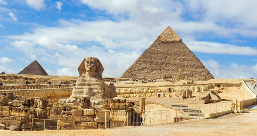 The Giza Pyramids are the last remaining monument of the seven wonders of the ancient world