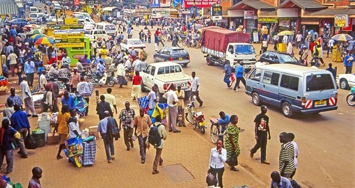 People on the streets of Kampala