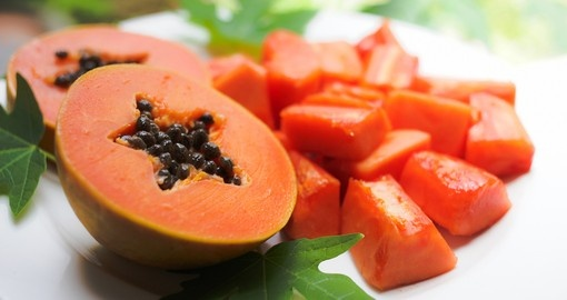 Papaya is used to prepare mapopo candy