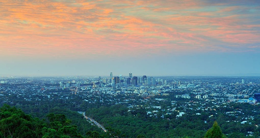 Get a new perspective from the top of Mt. Coot-tha on your Australia Vacation
