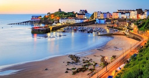 The coastal town of Tenby is home to the 15th century church of St. Mary