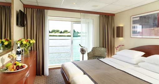The Stateroom (Mozart Deck) on the MS Amadeus Symphony.