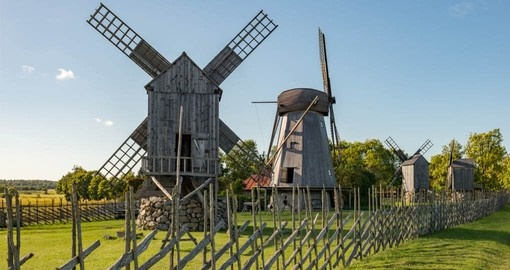 Visit the Windmills on Saaremaa Island on your Estonia Tours