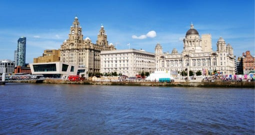 Visit the Three Graces in Manchester on your England vacation