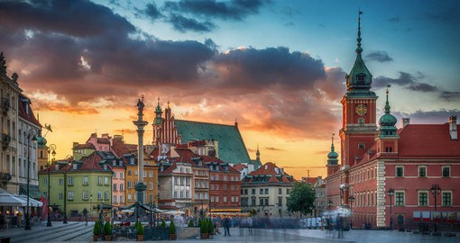 Stroll along Warsaw's Royal Route that links the former residences of Polish rulers