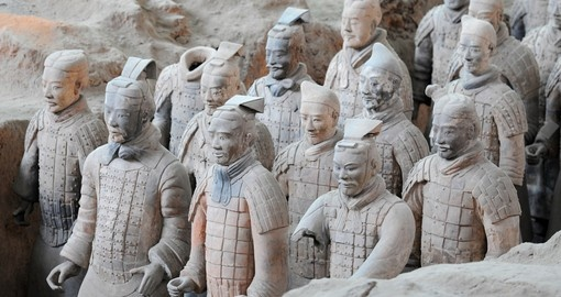 Discovered in 1974, the Terracotta Warriors in Xian are visited on your China vacation