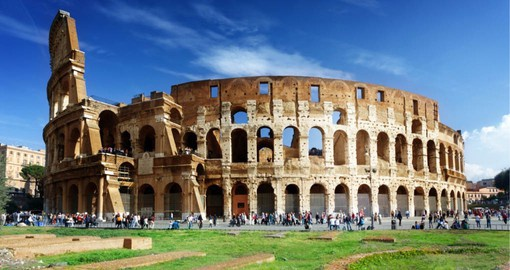 The Roman Coliseum is discovered on your Italy vacation