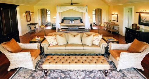 Your South Africa vacation includes a 3 night stay at the Mala Mala Rattrays Game Lodge.