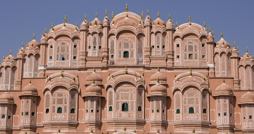 Magical Palace of the Winds in Jaipur on your next India tours.