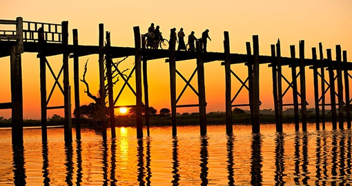 Enjoy a tropical sunset on your Myanmar vacation