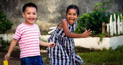The smiles of Tongan children