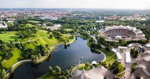 Visit Olympia Park, home of the Games of the XX Olympiad during your Germany vacation