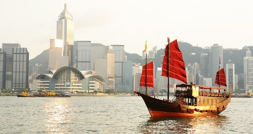 Traditional ship sailing the bay