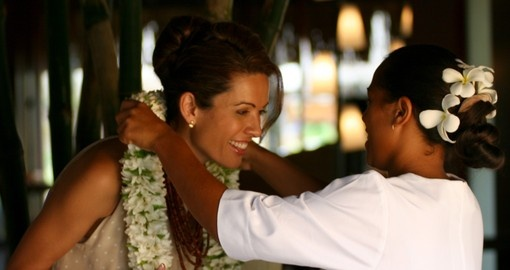 You will have a very warm welcome from the resort staff on your next Tahiti vacations.