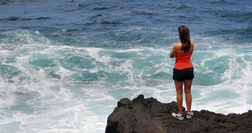 Ocean view from a cliff, Maui