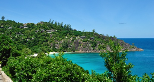 Petite Anse Mahe Petit Anse on Mahe island is a breathtaking bay