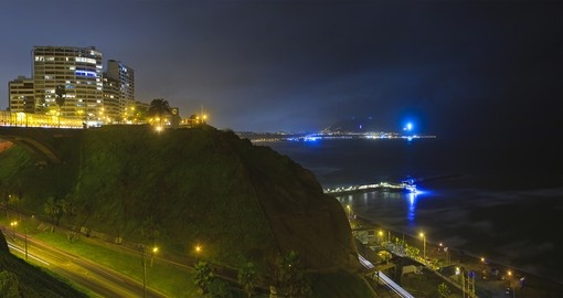 Drive down the Costa Verde freeway to modern Miraflores on your Peru Tour