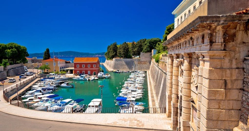 City gate and Fosa Harbour in Zadar
