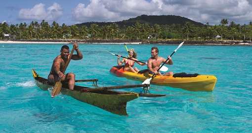 People Canoeing in Samoa