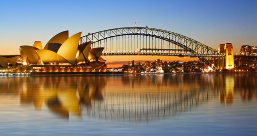 View of the Opera House and Sydney Harbour Bridge