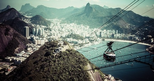 Ride the Cable car to Sugar Load mountain on your Brazil Trip