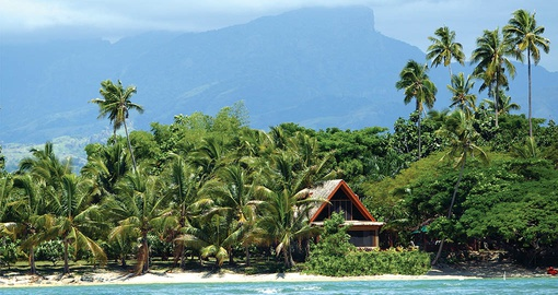 Enjoy the luxury of a private villa at this exclusive hotel on your Fiji Vacation