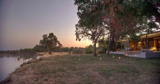 Explore all the amenities and view of the Chinzombo Camp during your next trip to Zambia.