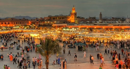 Explore Jemaa el Fna Square in Marrakech during your next Morocco vacations.