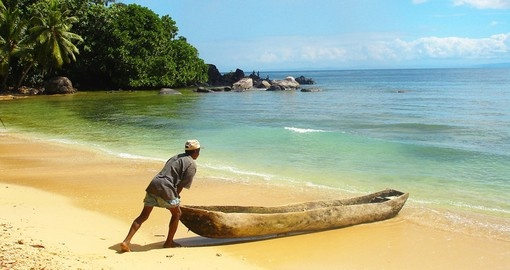 Traditional canoe in Madagascar