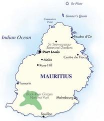 Mauritius Destination Map