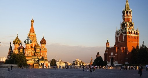 Moscow's famous Red Square - always a highlight on all Russia tours.