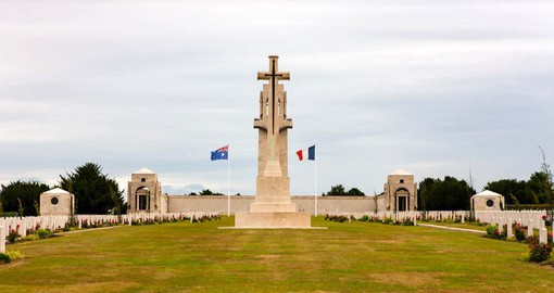 The Australian National Memorial at Villers-Bretonneux holds the names of more than 10,000 Australians who died in France