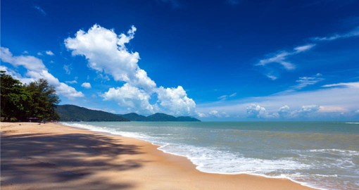 Include some beach time on Penang Island to finish your Malaysia vacation