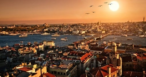 Sunset panorama of Istanbul