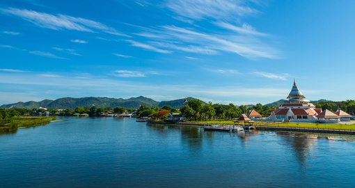 Enjoy an amazing landscape of  River Kwai during your next Thai vacations.
