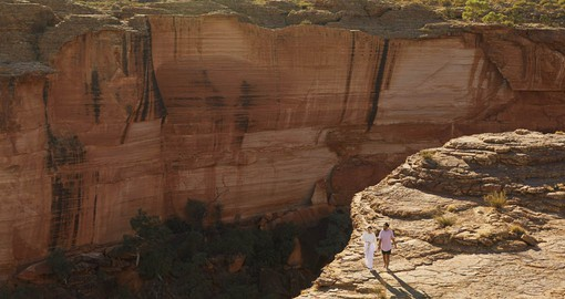 Kings Canyon, a majestic destination featuring 300 metre high sandstone walls. Image courtesy Tourism NT