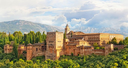 "The Alhambra named from the Arabic meaning ""Red Castle"""