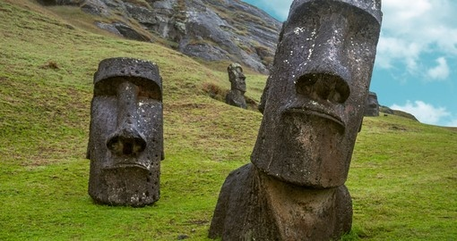 Moai standing on Easter Island