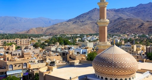 Enjoy this beautiful panorama of Nizwa during your next trip to Oman.